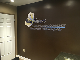 Dimensional Displays and Lettering, Cincinnati, Ohio, Twin Towers